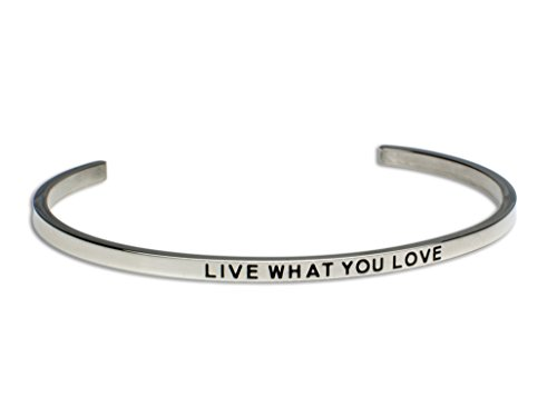 LIVE WHAT YOU LOVE:Gift for Her,Mantra Bracelet, Inspirational gift,100% Guaranteed,Perfect Gift.