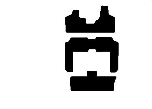 2010 2013 Passenger /& Rear Floor 2011 2016 GGBAILEY D3876A-S1A-BK-LP Custom Fit Car Mats for 2009 2017 Volkswagen Tiguan Black Loop Driver 2014 2015 2012