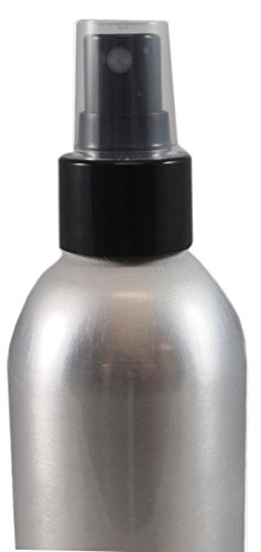 8oz Large Bullet-style Aluminum Fine Mist Spray Aluminum Atomizer Bottles: 4-pack