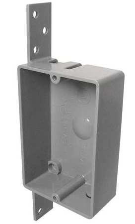 CANTEX EZ08SB Electrical Box,Shallow,W/Bracket,PVC