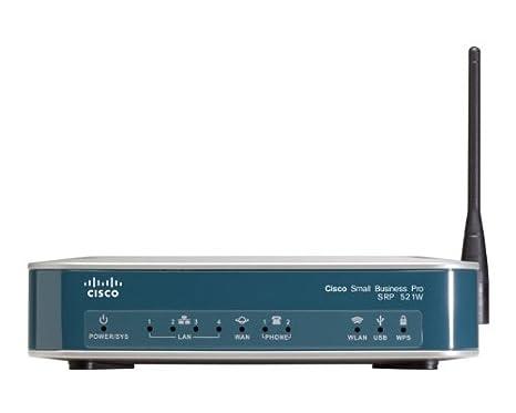 Cisco Small Business Pro SRP 526W Services Ready Platform Routeur sans fil DSL commutateur 4 ports 802.11b/g/n adaptateur de téléphone VoIP Ordinateur de bureau