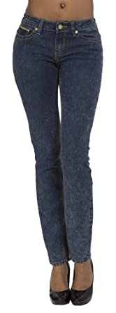 (CA141401B) COOGI Hot Skinny Jeans with Studded Cross Detail (Sizes 4-24) in LA Brea Size: 5/6