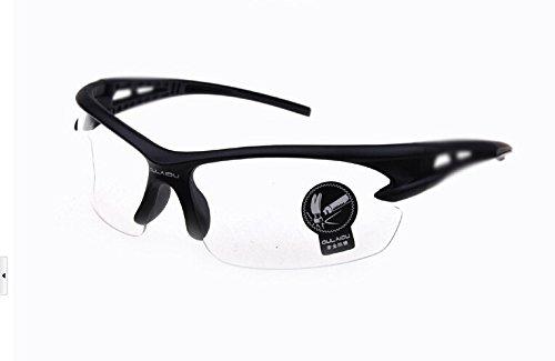 clear lens sports glasses  shaped lenses