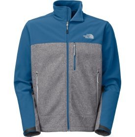The North Face Apex Bionic Soft Shell Jacket - Men's-Highrise Gry Htr/Dish Blu-L from The North Face