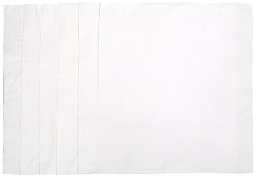 Kushies 6 Pack Washable Flat Diapers, White