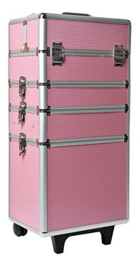 Mollycoddle 4 in1 Pink Hairdressing Makeup Beauty Case Cosmetics Trolley *NEXT DAY DELIVERY