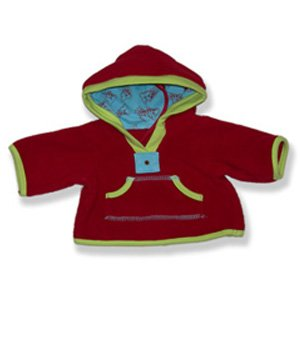 "Red Fleece - 9108 Fits 15"" - 16"" bears, includes Build a Bear, The Bear Mill, and Stuff your own Animals. - 1"
