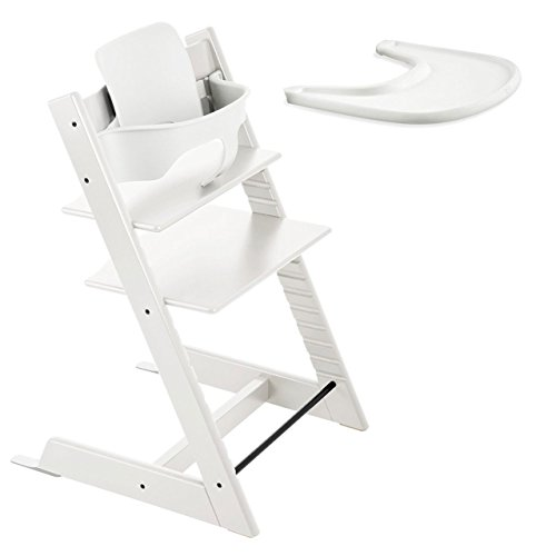 stokke tripp trapp with baby set and tray white by stokke baby shop. Black Bedroom Furniture Sets. Home Design Ideas