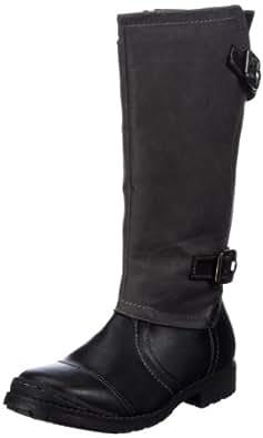 Indigo 466 564, Mädchen Stiefel, Schwarz (schwarz grau 022), EU 35