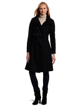 (2.1折)凯文克莱Calvin Klein美女时尚混纺中长风衣Military 3/4 length Coat$61.43