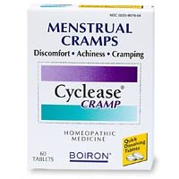 Boiron Homeopathic Medicine Cyclease Cramp Tablets for Menstrual Cramps, Homeopathic Medicine, 60-Count Boxes (Pack of 3)