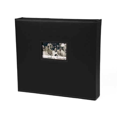 Xyron 12-Inch by 12-Inch Everyday Stories Leather Album, Black
