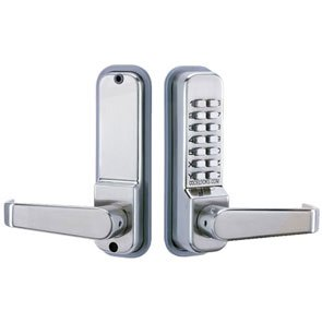Codelocks 410SS Mechanical Keyless Lock Exterior Door Hardware - Stainless Steel