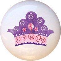 Ceramic Knob - Crown #005 - Fairytale Princess (Princess Crown Drawer Knobs compare prices)