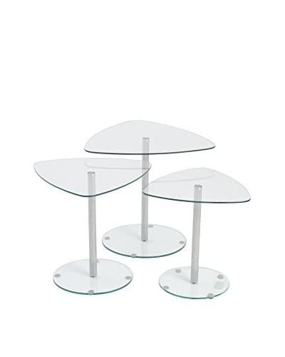 Eurostyle Sarafina Side Glass Tables, Clear