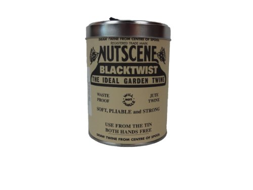 Bosmere K815BL Nutscene Tin of Twine, 3-Ply, 492-Feet, Black