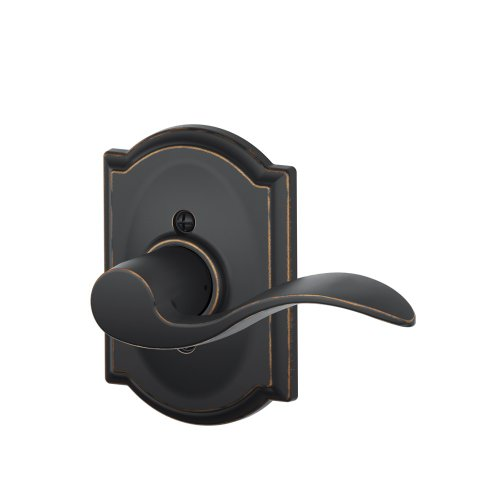 Schlage F170 Acc 716 Cam Rh Camelot Collection Right Hand Accent Decorative Trim Lever, Aged Bronze