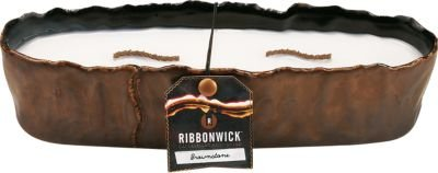 WoodWick 13.3 Oz. Ribbonwick Brownstone Medium Rectangle Candle