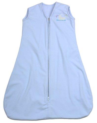 Halo Innovations SleepSack Wearable Cotton Blankets, Baby Blue, X-Large