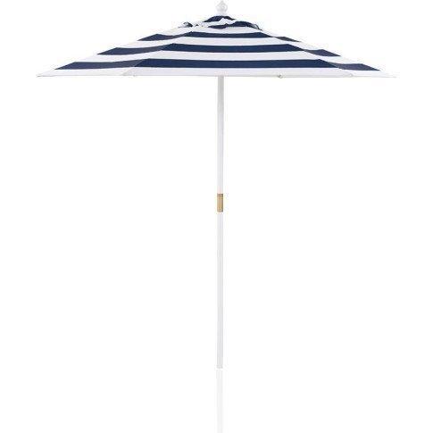 Sonnenschirm Blau / weiß gestreift IMPRESSIONEN Marktschirm Strandschirm jetzt kaufen