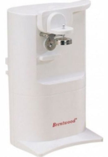 Brentwood Electric Can Opener With Built In Sharpener, White