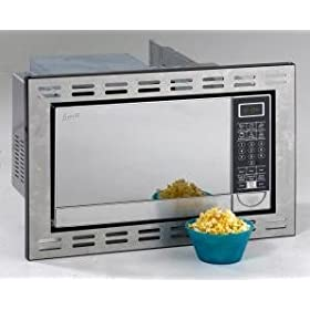 Avanti MO9005BST 0.9 cu. ft. Built-In Microwave with 900 Cooking Watts, 10 Power Levels, 6 Pre-Programmed Cooking Modes, Turntable, Child Lock, Stainless Steel Finish and Push Button Door Latch