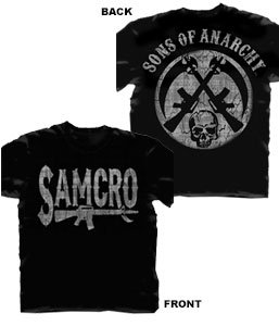Changes Men's Sons of Anarchy SAMCRO Rifle Logo T-Shirt, Black, Small