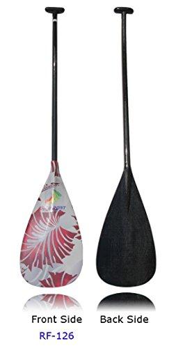Z&J SPORT Lightweight Carbon Fiber Graphics Blade Outrigger Canoe OC Paddle With Bent Shaft (RF-126, 52'') (Carbon Fiber Canoe Paddle compare prices)