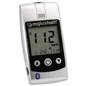 Image of Entra Health Systems MyGlucoHealth Wireless Bluetooth/USB Blood Glucose Meter (MGH-BT1KIT) - (B009LPZ9G0)