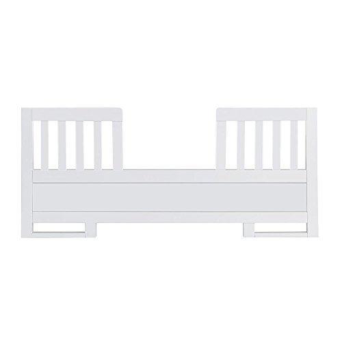 Karla DuBois Baby Toddler Bed Conversion Rail Kit, Pure White Finish