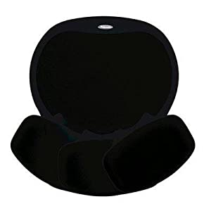 Fellowes Easy Glide Gel Large-Sized Mouse Pad Includes Wrist Rest Patented Mechanism Black