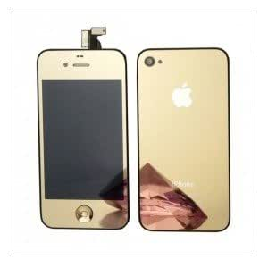 hiclic iphone 4 conversion kit color gold mirror lcd retina display assembly rear. Black Bedroom Furniture Sets. Home Design Ideas