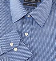 "2"" Longer Pure Cotton Easy to Iron Striped Shirt"