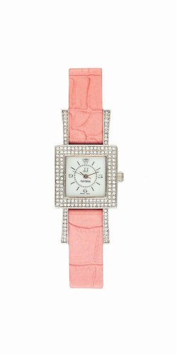 Jules Jurgensen Women's A147PK European Crystal Accented Pink Watch