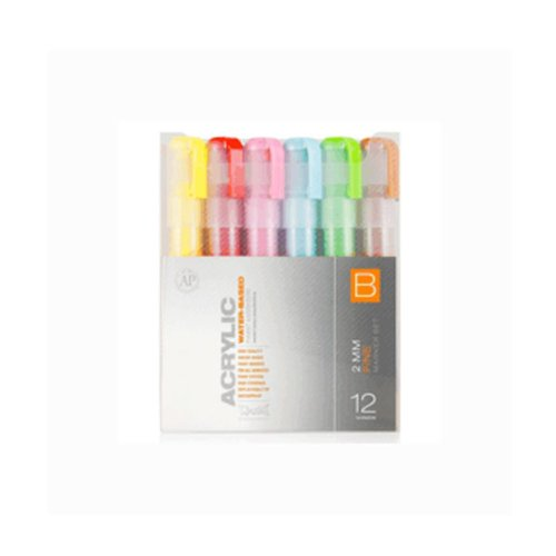 Montana Acrylic Marker 12er Set B 2mm (Montana Paint Pens compare prices)
