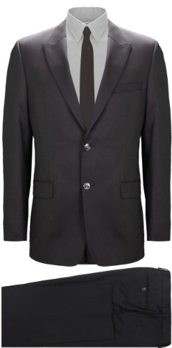 Versace Men's Two-Piece Suit Dark Brown Wool Suit (UK 40 / EU 50)