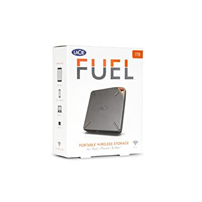 LaCie FUEL 1TB Wireless Storage with Wi-Fi 802.11 b/g/n and USB 3.0 (9000436U)
