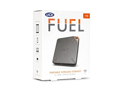 LaCie FUEL (9000436U) 1TB Wireless Storage External Hard Drive
