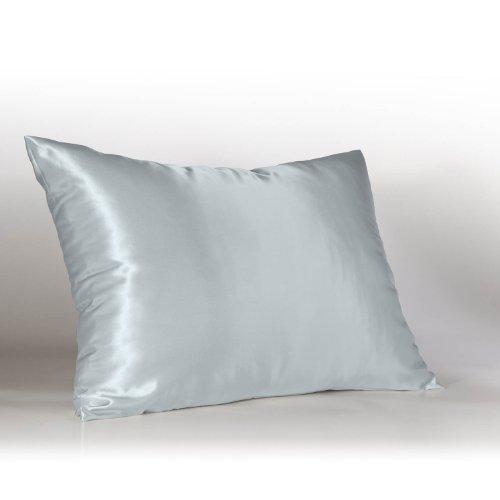 Luxury Baby Bedding Luxury Baby Blue Satin Pillow Case W