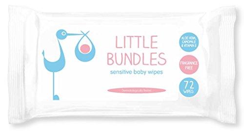 Little Bundles, Salviette umidificate, 12 confezioni x 72 pezzi (864 in totale)