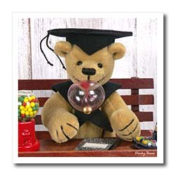 Dinky Bears Graduation &#8211; 6&#215;6 Iron On Heat Transfer For White Material