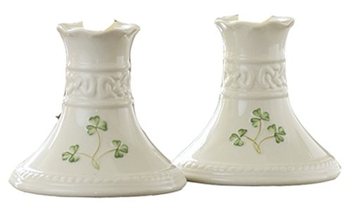 Belleek Tara 4 In. Candlesticks (Pair)