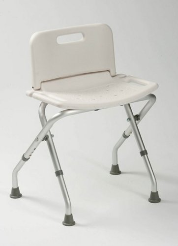 Drive Medical Lightweight Folding Shower Chair / Bath Seat With Backrest