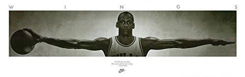 """Michael Jordan Poster con stampa della famosa Wings, 183 X 61 X 0,61 Meters 1,83 cm X 60,96 Meters 182,88 (24 X 72"""") sangue caldo"""