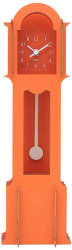 WOLF 333711 Jigsaw Mini Grandfather Clock, Orange