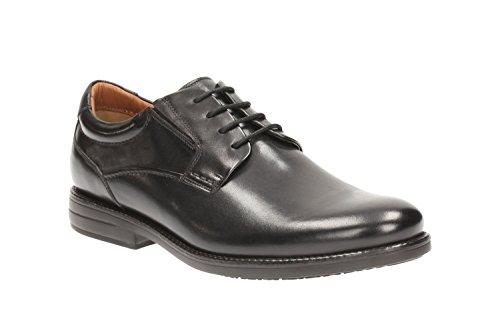 Clarks Habillé Homme Hopton Walk Cuir Chaussures De Noir