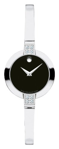 Movado Women's 605855 Bela Diamond Accented Swiss Quartz Bangle Bracelet Watch