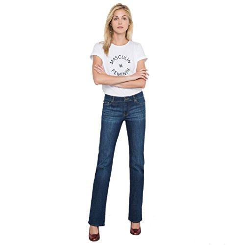 R Essentiel Donna Jeans Bootcut, Vita Leggermente Bassa Taglia 31 Blu