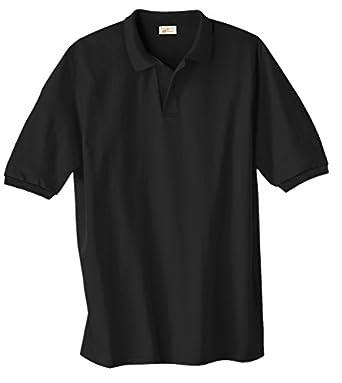 Hanes Adult ComfortBlend EcoSmart® Jersey Polo - Black - S