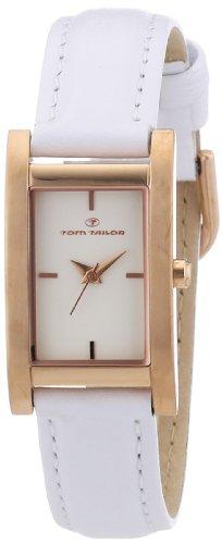 Tom Tailor - 5410902 - Montre Femme - Quartz Analogique - Bracelet Cuir Blanc